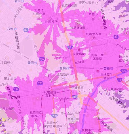 wimax2+エリア北海道札幌市
