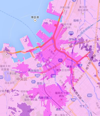 wimax2+福岡市エリア